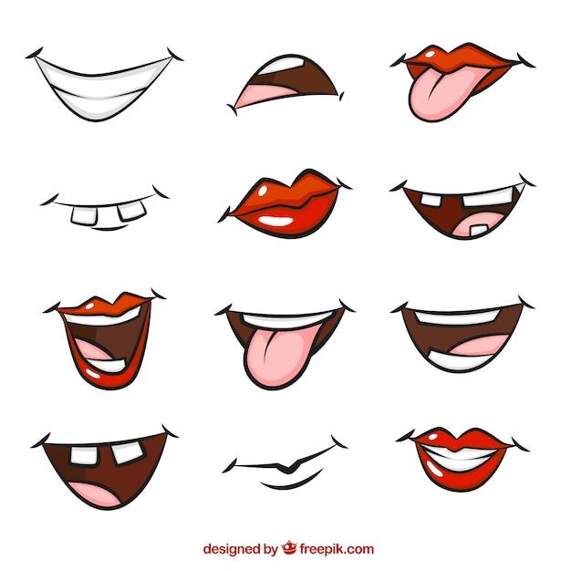 bocas dos desenhos animados