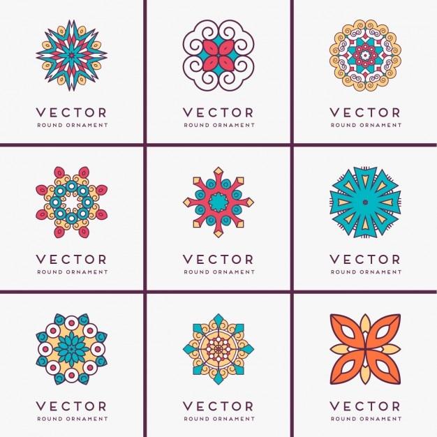 Boho coleção ornamento do estilo Vetor grátis