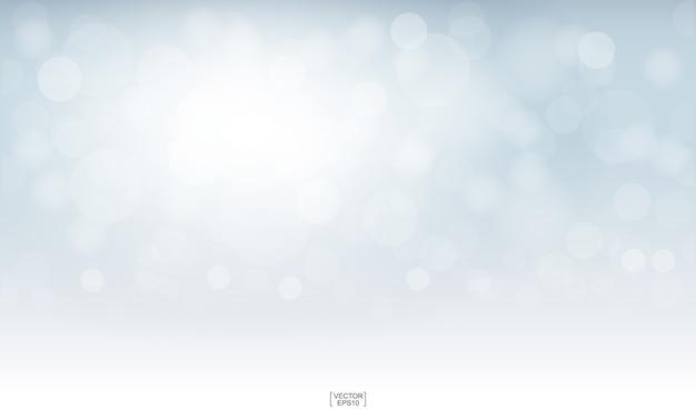 Bokeh borrado claro para o fundo. Vetor Premium