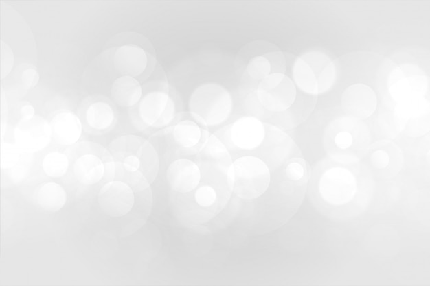 Bokeh branco lindo efeito de fundo Vetor grátis