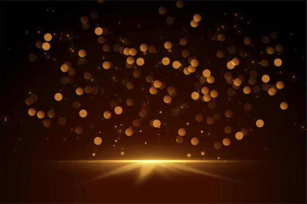 Bokeh brilhante e brilhos com design de luzes Vetor grátis