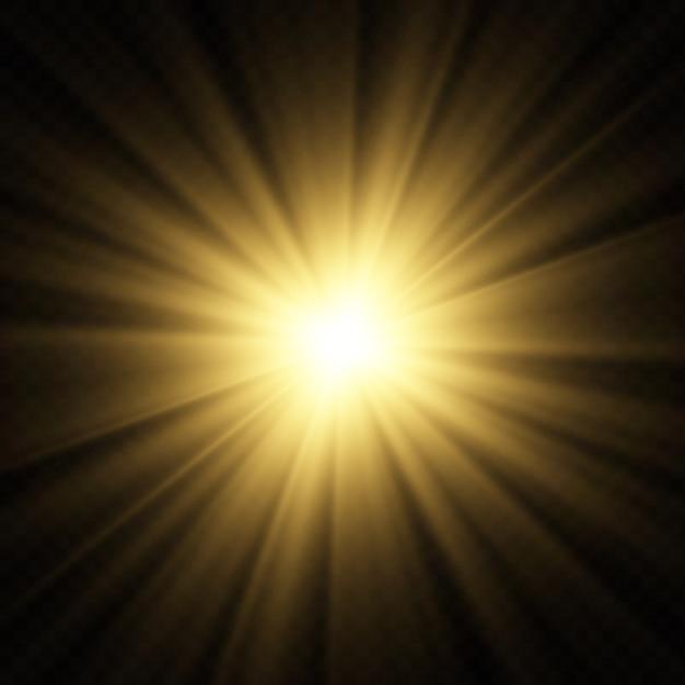 Bokeh embaçado legal ilumina o fundo do vetor. Vetor Premium