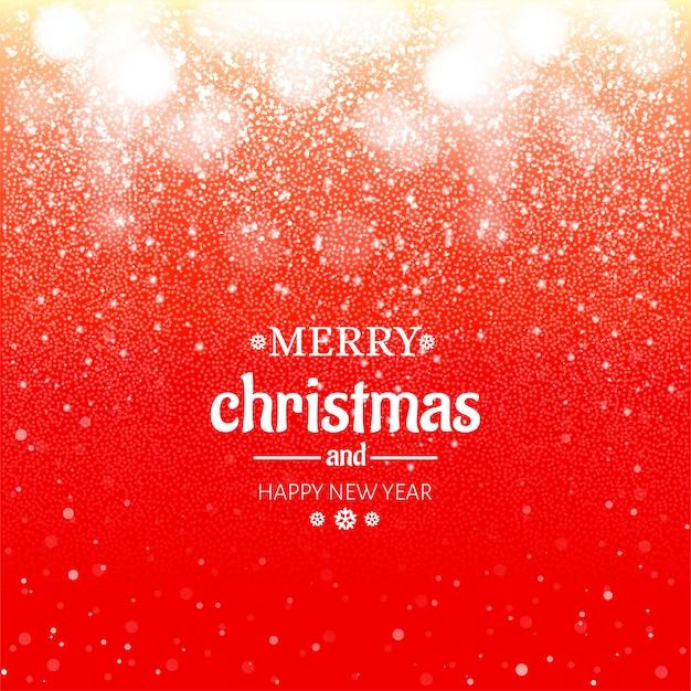 Bokeh feliz natal brilha o fundo do festival Vetor grátis