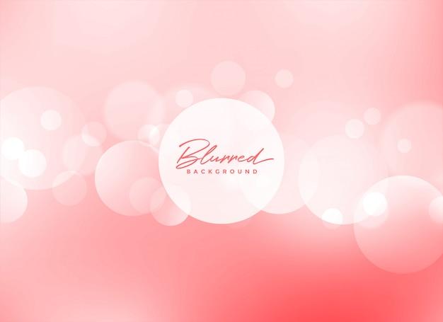 Bokeh rosa suave fundo bonito Vetor grátis
