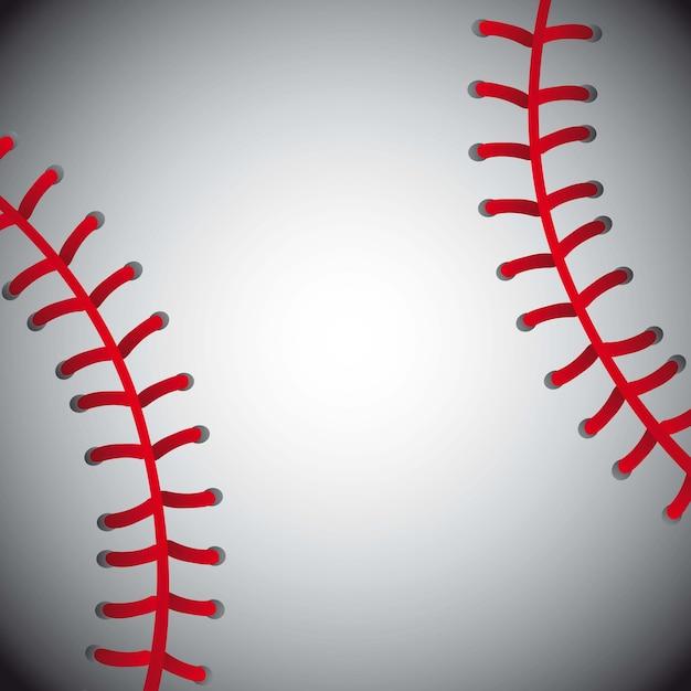Bola de beisebol textura fundo ilustração vetorial Vetor Premium