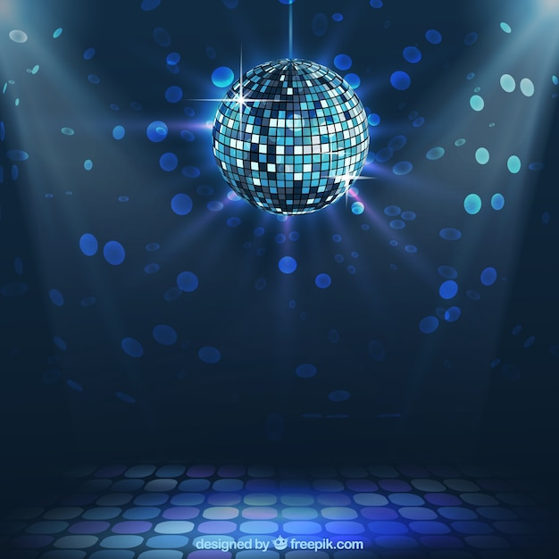 Bola de discoteca brilhante Vetor Premium