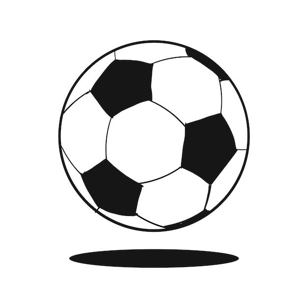 Bola de futebol doodle Vetor grátis