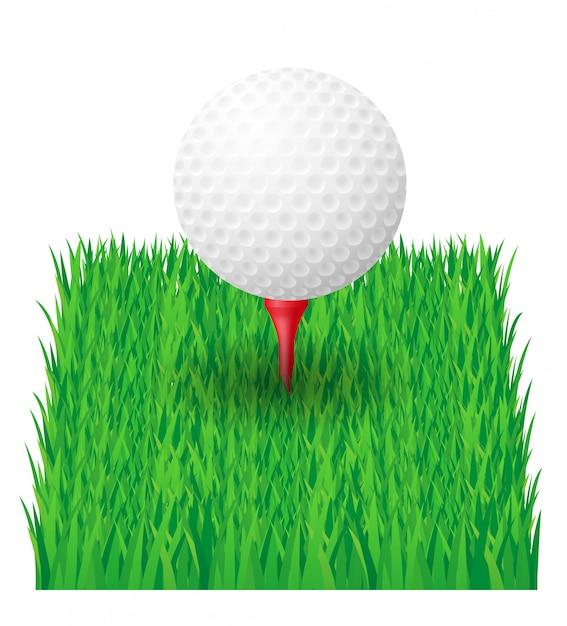 Bola de golfe. Vetor Premium