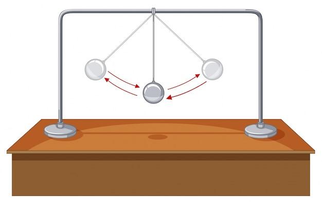 Bola de gravidade balançando na mesa Vetor grátis