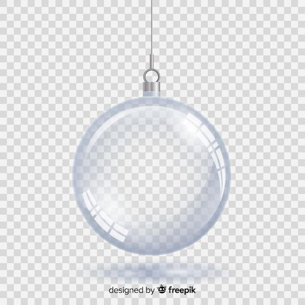 Bola de natal de cristal com fundo transparente Vetor grátis