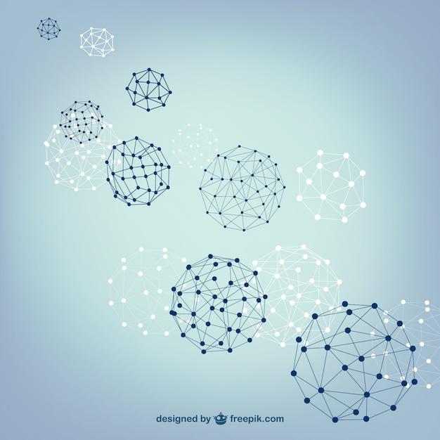 Bola esferas estrutura vetor Vetor grátis