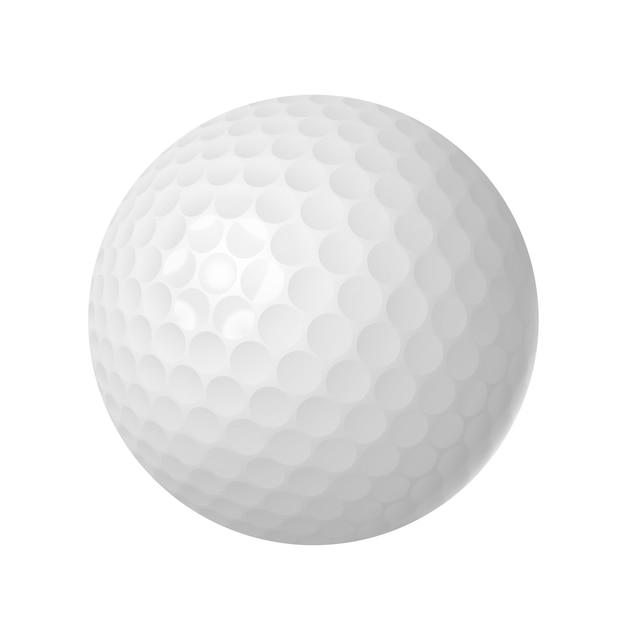 Bola golfe, sobre, branca, isolado Vetor grátis