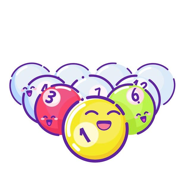 Bolas de bilhar coloridas Vetor grátis