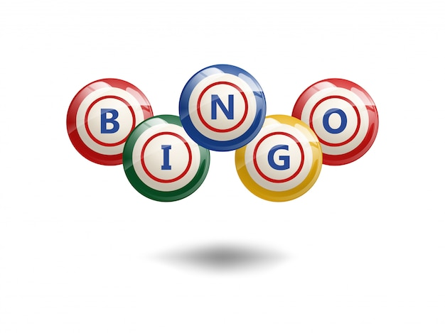 Bolas de bingo voador Vetor Premium