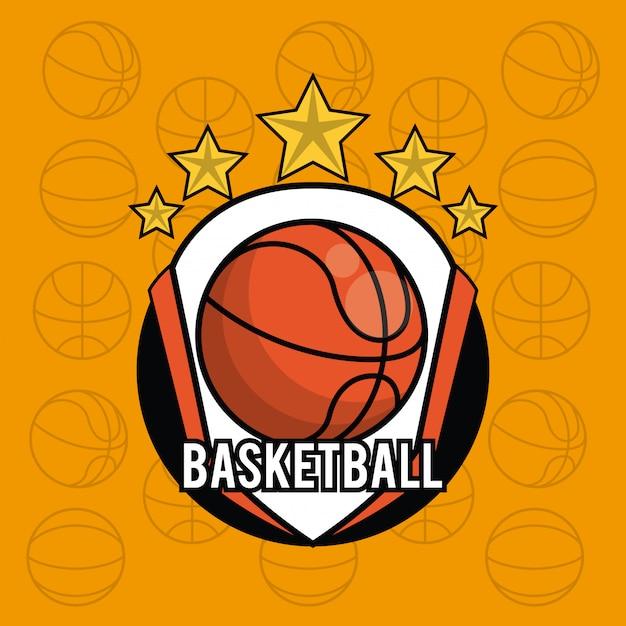 Bolas de esportes equipamento fundo cartão vibrante Vetor Premium