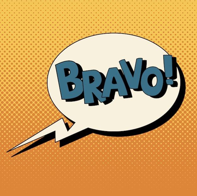 Bolha comic em estilo pop art com expressões bravo Vetor Premium