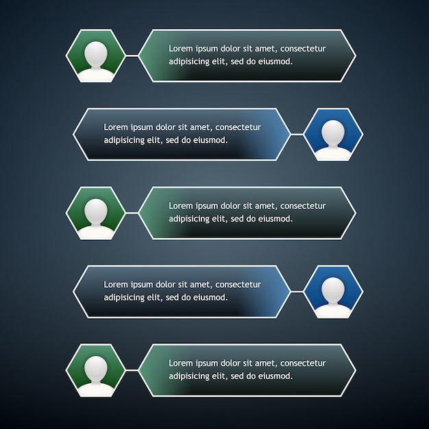Bolhas de bate-papo por telefone com o ícone do usuário nas cores verde e azul Vetor Premium