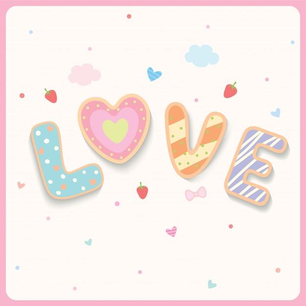Bolinhos do amor Vetor Premium