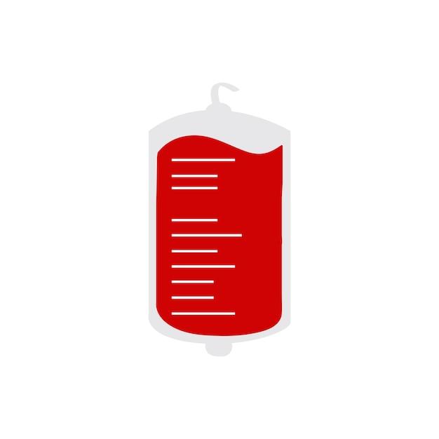 Bolsa de sangue isolado ilustração vetorial Vetor grátis