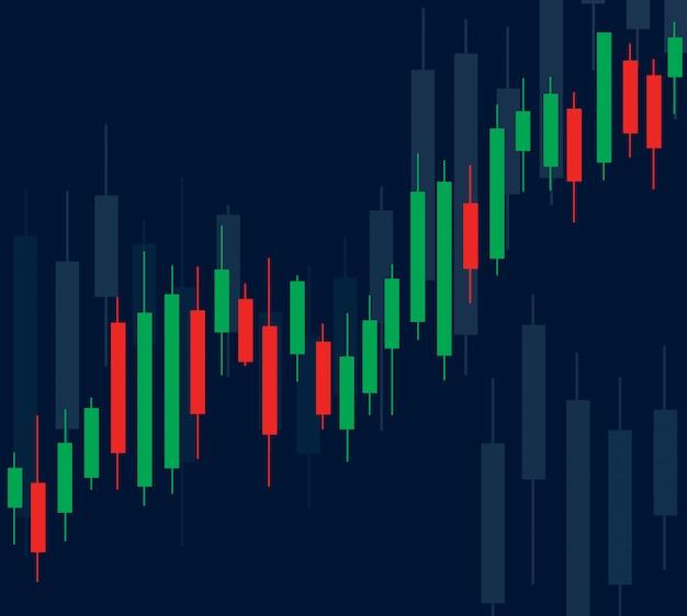 Bolsa de valores candlestick Vetor Premium