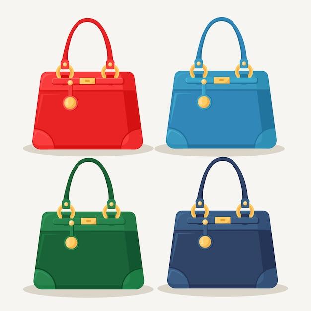Bolsa feminina para compras, viagens, férias. bolsa de couro com alça Vetor Premium