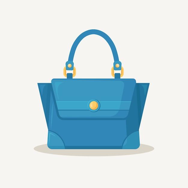 Bolsa feminina para compras, viagens, férias. Vetor Premium