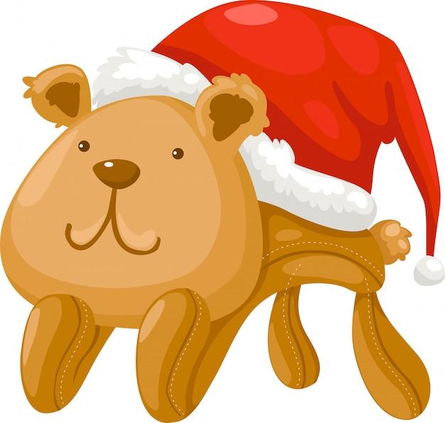 Boneca urso vector ilustração Vetor Premium