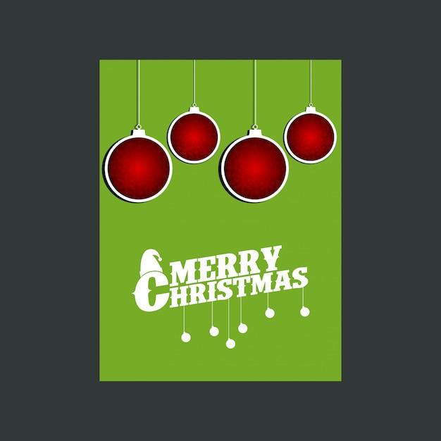 Boneco de neve feliz natal fundo verde Vetor grátis
