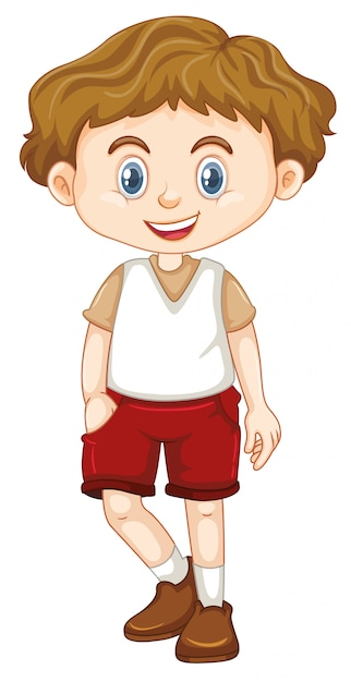 Bonita criança sorridente feliz isolada no branco Vetor grátis