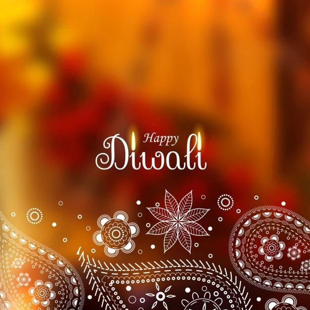 Bonito de diwali com projeto de paisley Vetor grátis