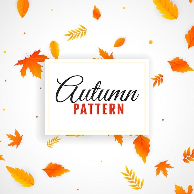 Bonito, outono sai, padrão, desenho Vetor grátis