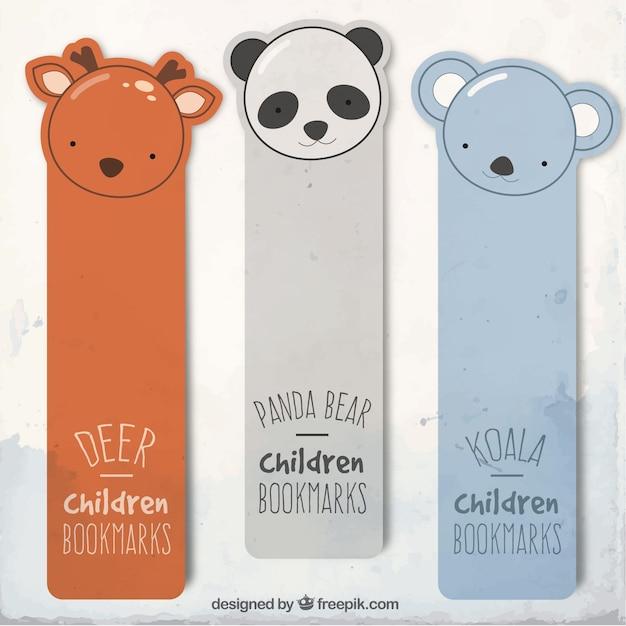 Bookmarks animais Vetor grátis