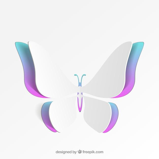 Borboleta colorida de papel Vetor grátis