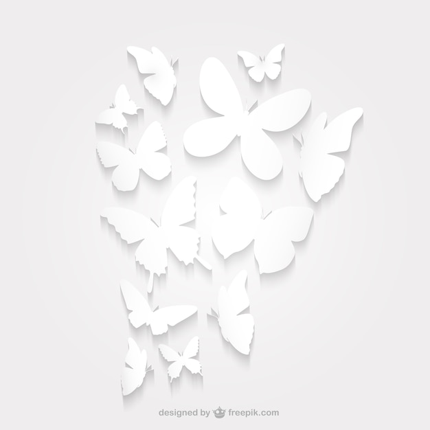 Borboleta de papel pacote silhueta Vetor grátis