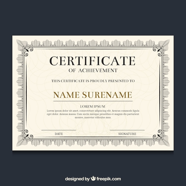 Borda de certificado ornamental Vetor grátis