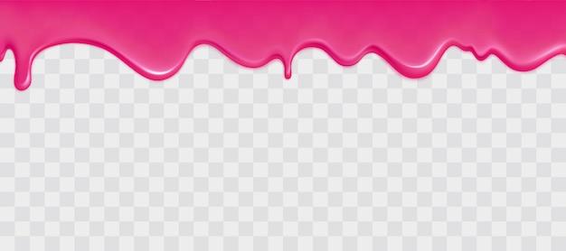 Borda de lodo rosa brilhante Vetor grátis
