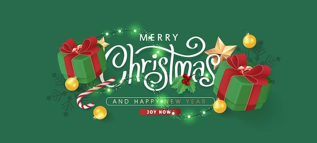 Borda decorativa de natal feita de fundo de elementos festivos. Vetor Premium
