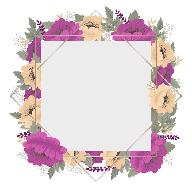 Borda floral de flor vintage Vetor grátis