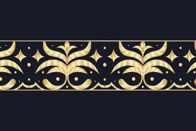 Borda ornamental dourada sobre fundo escuro Vetor grátis