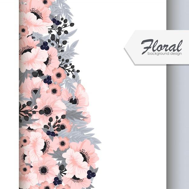 Bordas de flores vector flores cor de rosa Vetor grátis