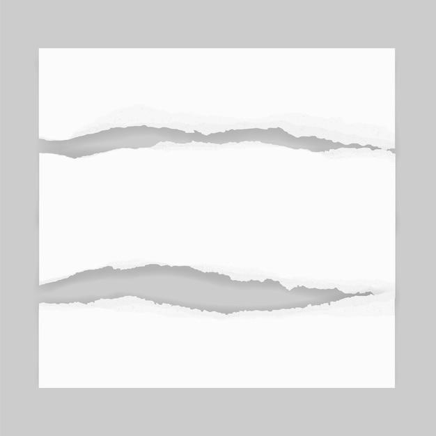 Bordas de papel rasgado para o fundo. Vetor Premium