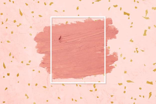 Borrão de batom rosa Vetor grátis