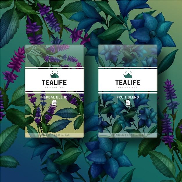 Botânicas flores em aquarela coloridas Vetor grátis