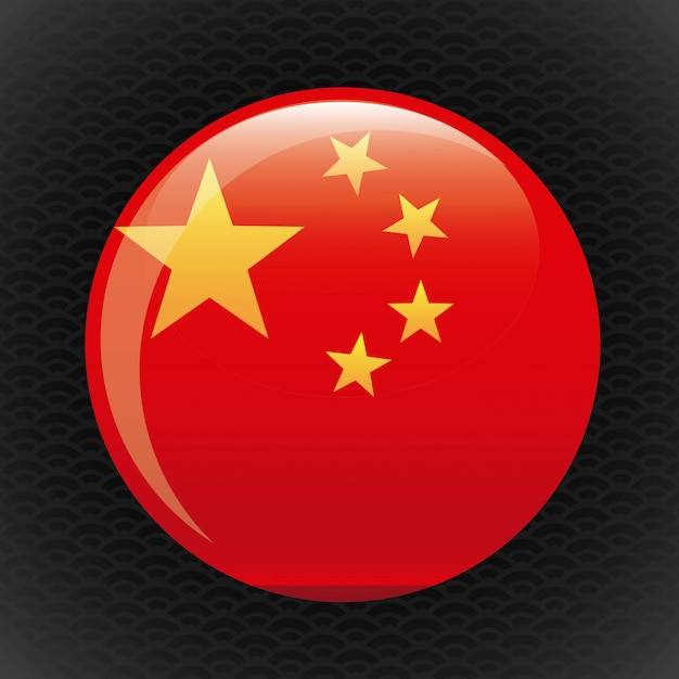 Botão china Vetor grátis