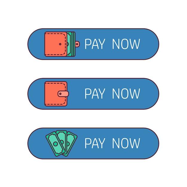Botão de pagamento na web Vetor Premium