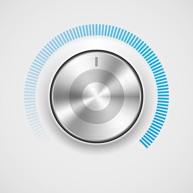 Botão de volume de tecnologia abstrata Vetor Premium