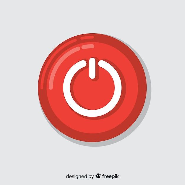 Botão iniciar vermelho Vetor grátis