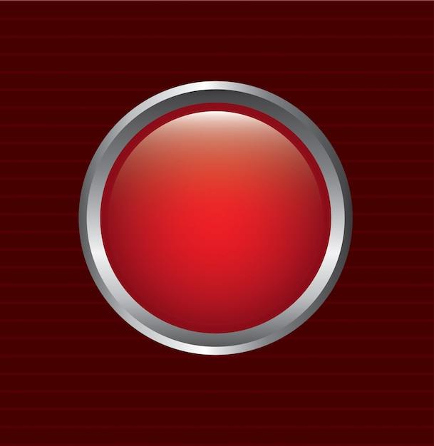 Botão vermelho Vetor Premium