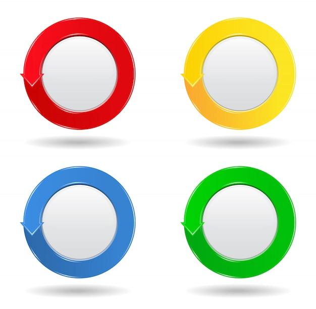 Botões círculo Vetor Premium