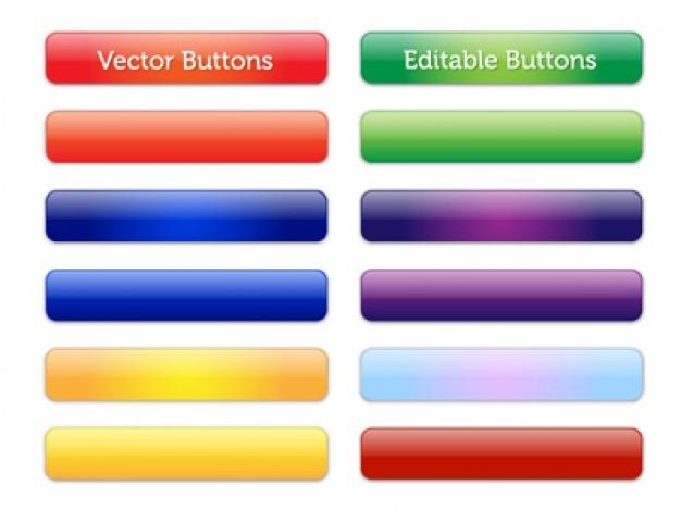 Botões coloridos brilhantes vetoriais editáveis Vetor grátis